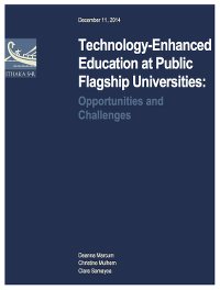 Technology Ennhanced Education at Public Flagship Universities